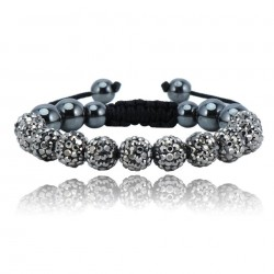 Shamballa armband - GREY LABLE